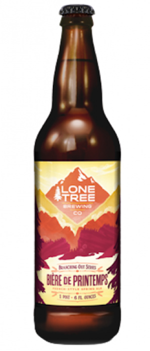 Bière de Printemps by Lone Tree Brewing Company in Colorado, United States