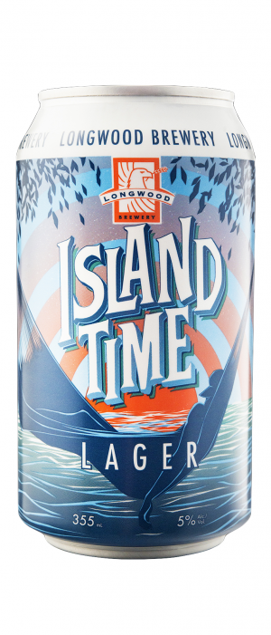 Island Time Lager by Longwood Brewery in British Columbia, Canada