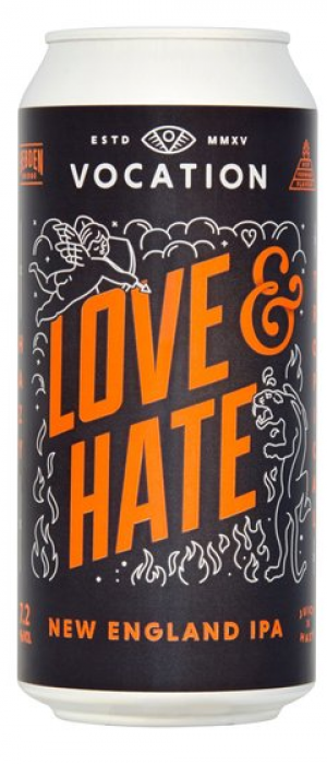 Love & Hate New England IPA by Vocation Brewery in West Yorkshire - England, United Kingdom