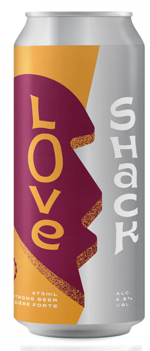 Love Shack Hazy Passionfruit IPA by Cabin Brewing Company in Alberta, Canada