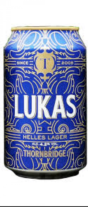 Lukas Helles Lager by Thornbridge in Derbyshire - England, United Kingdom