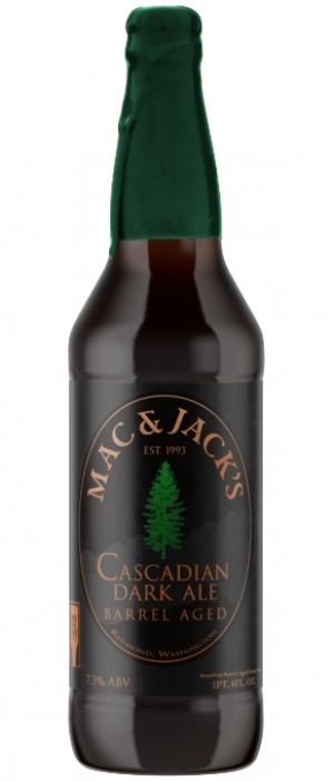 Bourbon Barrel Aged Cascadian Dark Ale by Mac & Jack's Brewery in Washington, United States