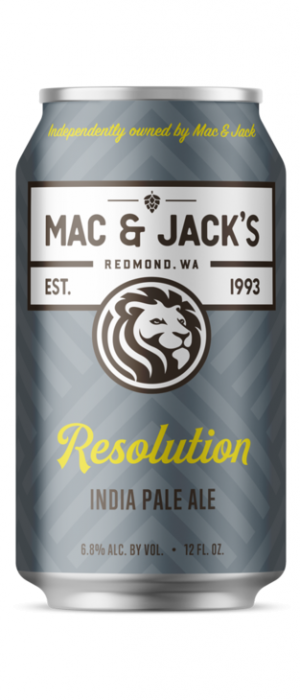 Resolution IPA by Mac & Jack's Brewery in Washington, United States