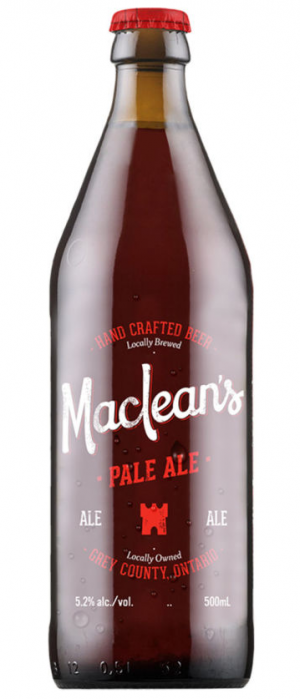 Pale Ale by Maclean's Ales Inc. in Ontario, Canada