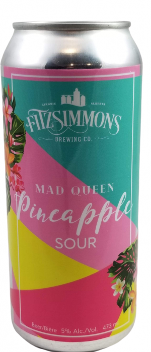 Mad Queen Pineapple Sour by Fitzsimmons Brewing Co. in Alberta, Canada