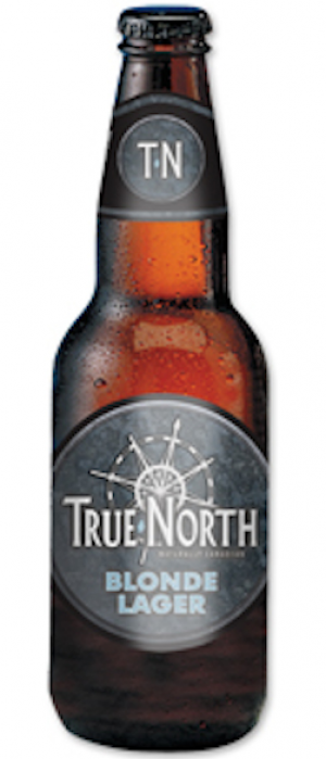 True North Blonde Lager by Magnotta Brewery in Ontario, Canada