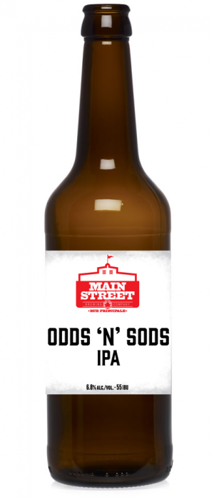 Odds 'N' Sods IPA by Main Street Brewing Company in British Columbia, Canada