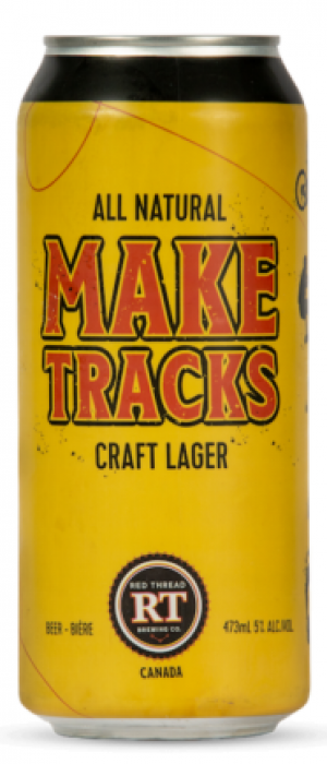 Make Tracks by Red Thread Brewing Co. in Ontario, Canada