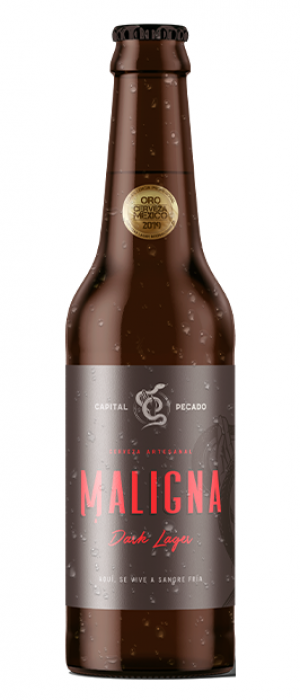 Maligna Dark Lager by Capital Pecado in Jalisco, Mexico