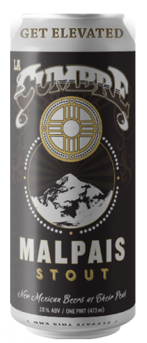 Malpais Stout by La Cumbre Brewing Company in New Mexico, United States