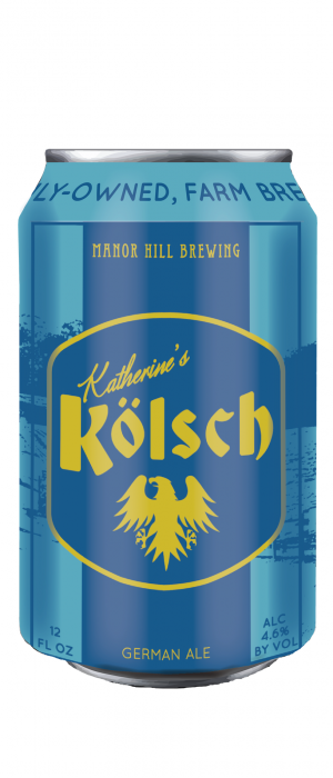 Katherine's Kölsch by Manor Hill Brewing in Maryland, United States