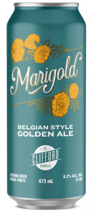 Marigold Belgian Style Golden Ale by Clifford Brewing Co. in Ontario, Canada