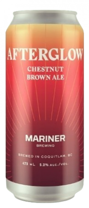 Afterglow Chestnut Brown Ale by Mariner Brewing Company in British Columbia, Canada