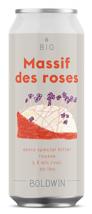 Massif des roses by Boldwin in Québec, Canada