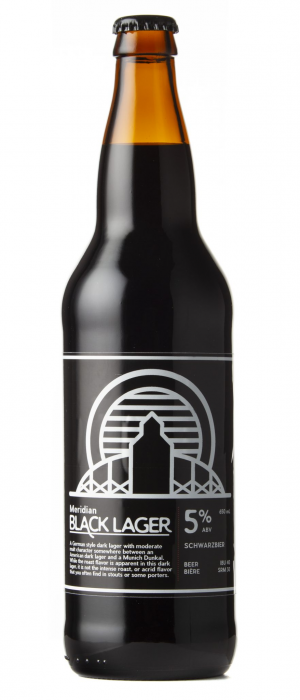 Meridian Black Lager by Township 24 Brewery in Alberta, Canada