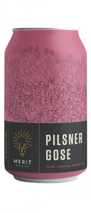 Pilsner Gose by MERIT Brewing in Ontario, Canada