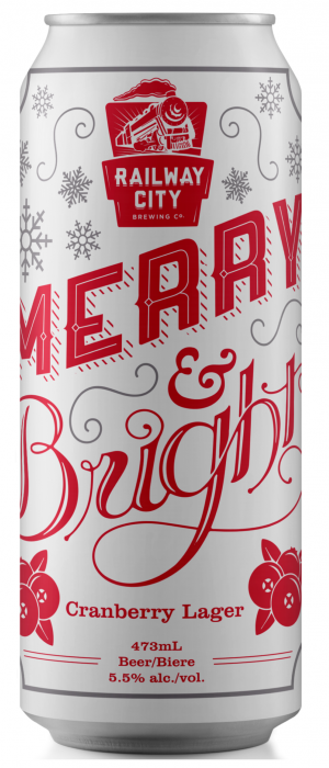 Merry & Bright by Railway City Brewing Company in Ontario, Canada