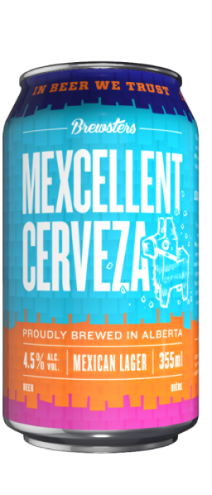 Mexcellent Cerveza by Brewsters Brewing Company in Alberta, Canada