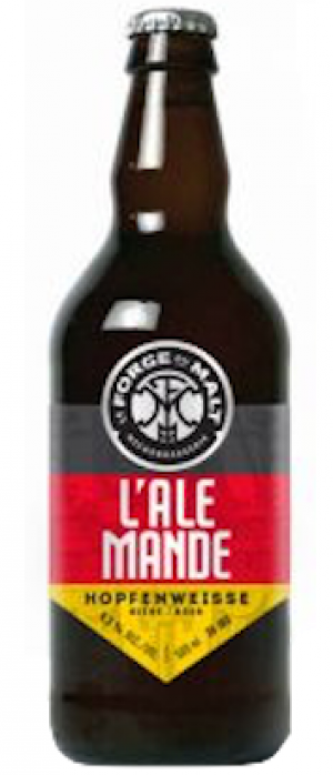 L'Ale Mande by Microbrasserie La Forge du Malt in Québec, Canada