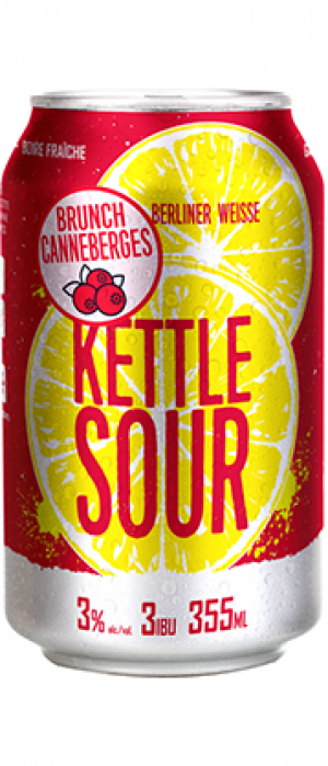 Kettle Sour Brunch Canneberges by Microbrasserie Vox Populi in Québec, Canada