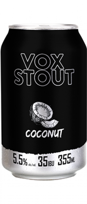 Vox Stout Coconut by Microbrasserie Vox Populi in Québec, Canada