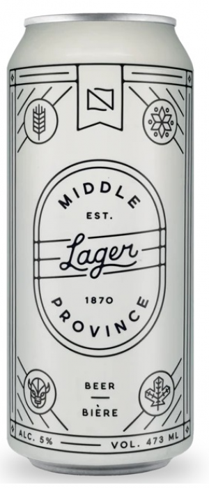 Middle Province Lager by Fort Garry Brewing in Manitoba, Canada
