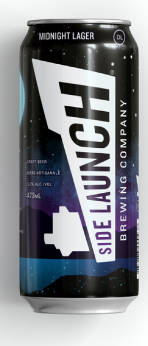 Midnight Lager by Side Launch Brewing Company in Ontario, Canada