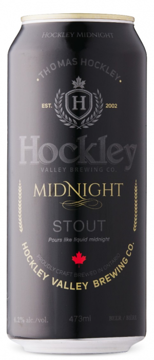 Midnight Stout by Hockley Brewing Company in Ontario, Canada