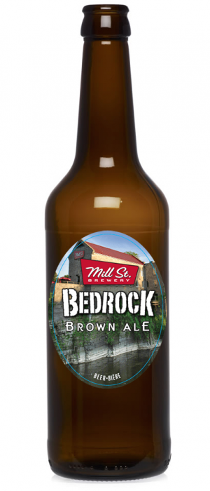 Bedrock Brown Ale by Mill Street Brewery in Ontario, Canada