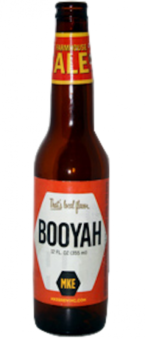 Booyah Apricot Saison by Milwaukee Brewing Company in Wisconsin, United States
