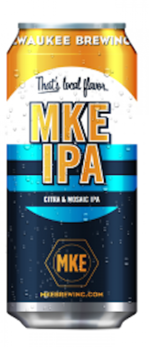 MKE IPA by Milwaukee Brewing Company in Wisconsin, United States