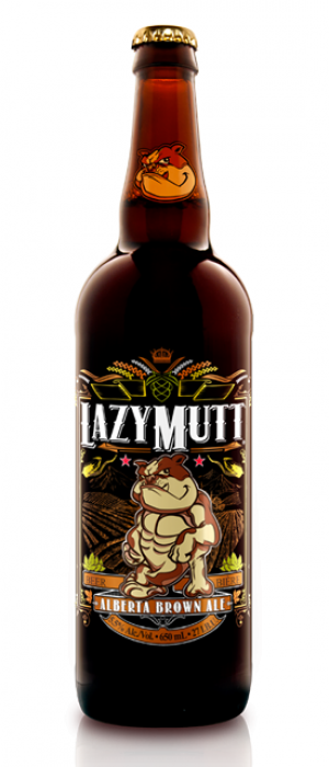 Lazy Mutt Alberta Brown Ale by Minhas Micro Brewery in Alberta, Canada