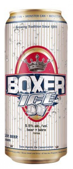 Boxer Ice by Minhas Micro Brewery in Alberta, Canada
