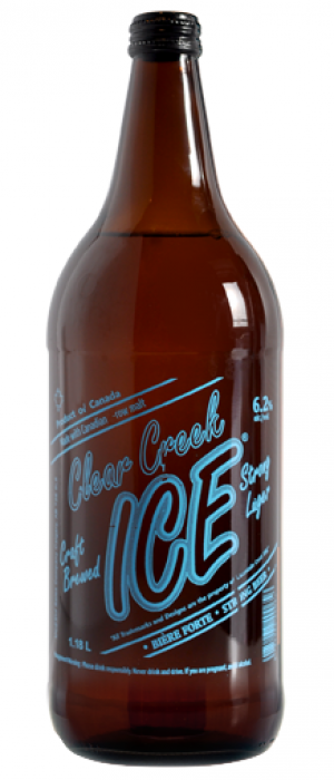 Cleer Creek Ice Extra Strong Beer by Minhas Micro Brewery in Alberta, Canada