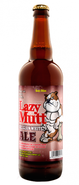 Lazy Mutt Belgian White Ale by Minhas Micro Brewery in Alberta, Canada