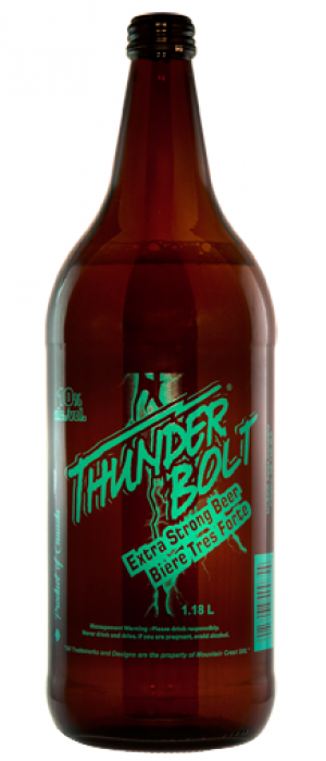 Thunder Bolt Extra Strong Beer by Minhas Micro Brewery in Alberta, Canada