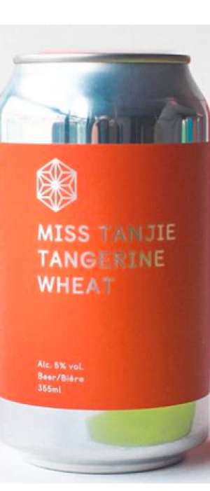 Miss Tanjie Tangerine Wheat by Spectrum Beer Company in British Columbia, Canada
