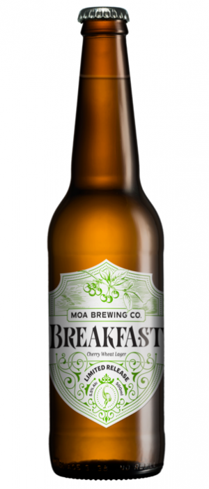 Breakfast Cheer Wheat Lager by Moa Brewing Company in Marlborough, New Zealand