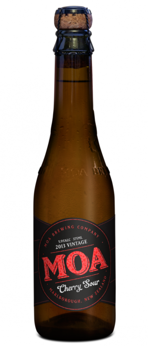 Cherry Sour 2013 by Moa Brewing Company in Marlborough, New Zealand