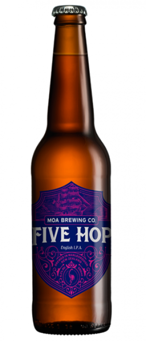 Five Hop by Moa Brewing Company in Marlborough, New Zealand
