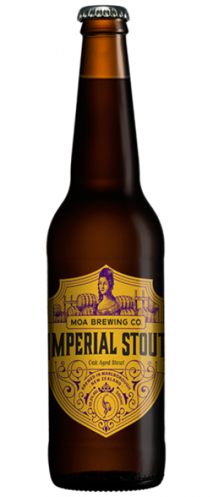 Imperial Stout by Moa Brewing Company in Marlborough, New Zealand
