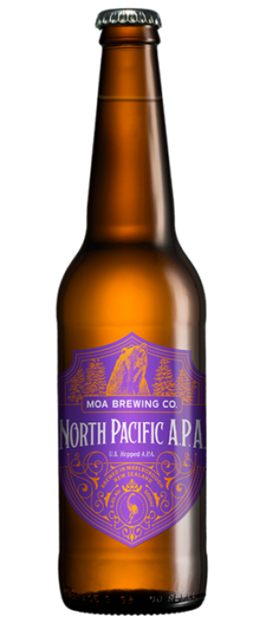North Pacific IPA by Moa Brewing Company in Marlborough, New Zealand