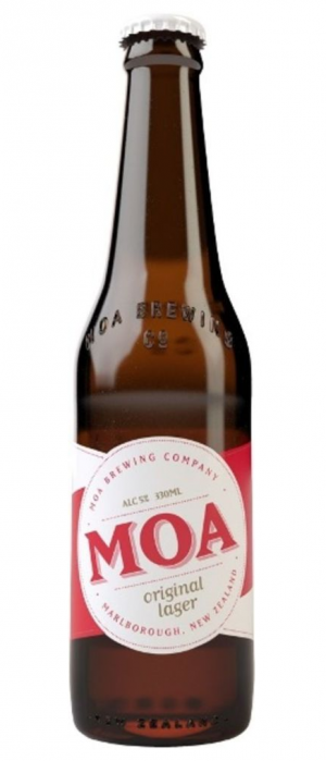 Original Lager by Moa Brewing Company in Marlborough, New Zealand