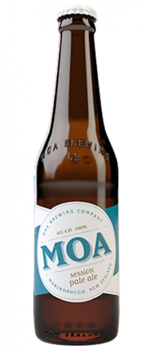 Session Pale Ale by Moa Brewing Company in Marlborough, New Zealand
