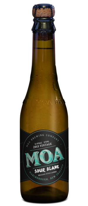 Sour Blanc 2013 by Moa Brewing Company in Marlborough, New Zealand