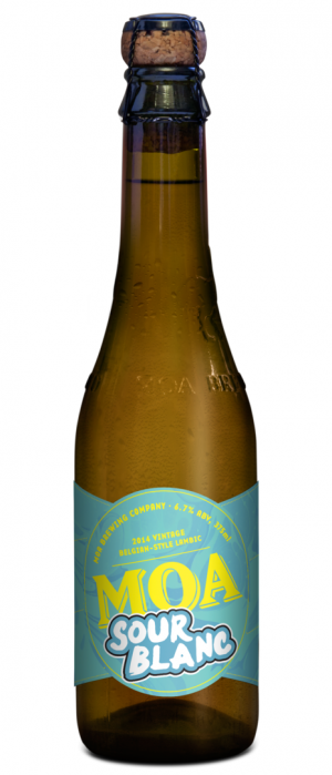 Sour Blanc 2014 by Moa Brewing Company in Marlborough, New Zealand