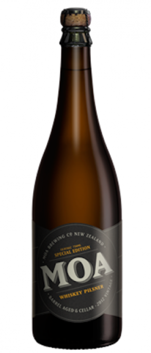 Whiskey Pilsner by Moa Brewing Company in Marlborough, New Zealand