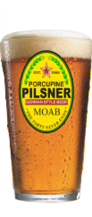 Porcupine Pilsner by Moab Brewery in Utah, United States