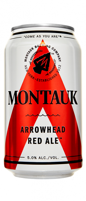 Arrowhead Red Ale by Montauk Brewing Company in New York, United States