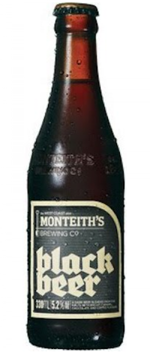 Black Beer by Monteith's Brewing Company in West Coast, New Zealand
